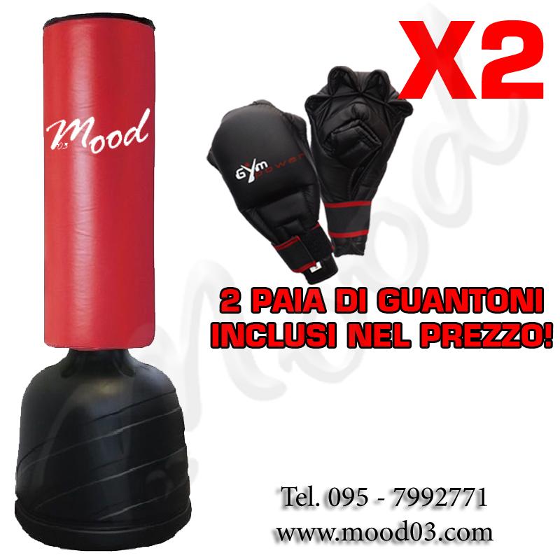 SACCO FITBOXE ALTEZZA REGOLABILE MAX 175cm BASE ANTISCIVOLO Cappuccio 75x35cm + 2 PAIA DI GUANTONI [RICHIEDI SCONTO]